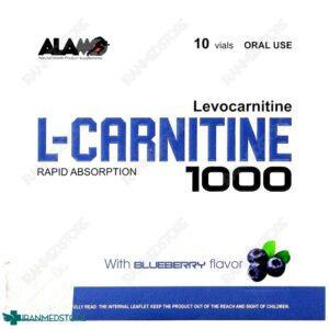 ویال خوراکی ال کارنیتین مایع 1000 آلامو10 عددی