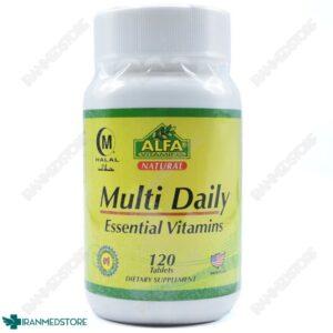 قرص مولتی دیلی الفا ویتامین  آلفا ویتامین 120عددی